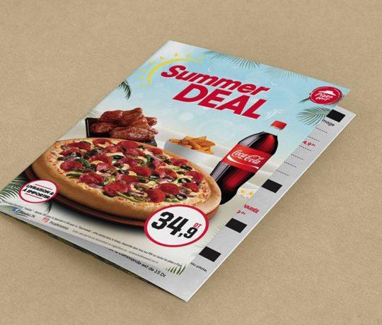 Réalisation Dépliant Summer Deal Pizza Hut