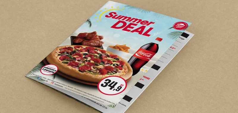 Réalisation Dépliant Summer Deal Pizza Hut