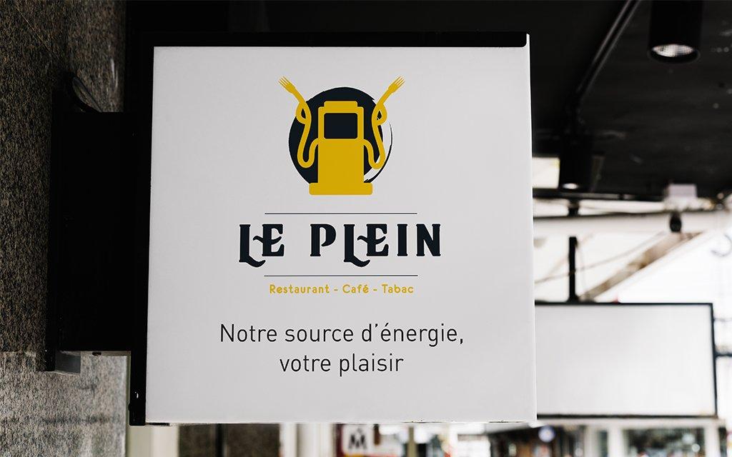 Conception Graphique Logo Restaurant Le Plein