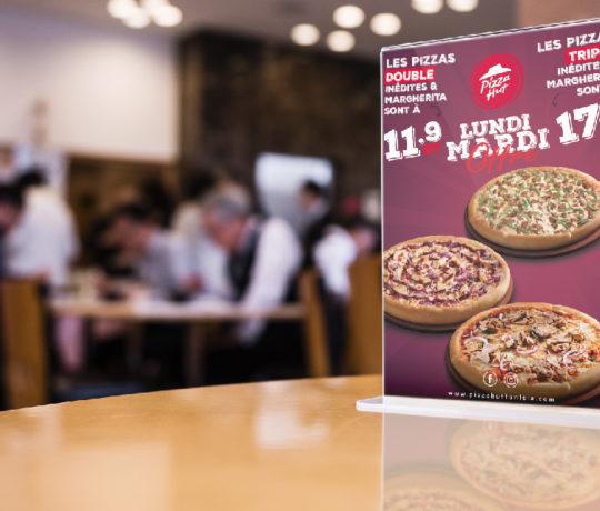 Conception Menu Pizza Hut