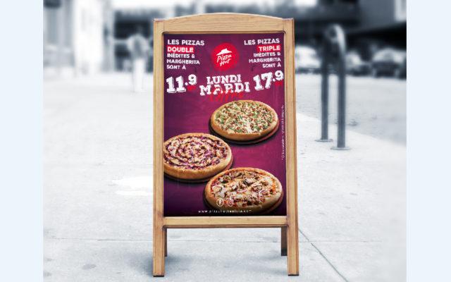 Chevalet Offre Lundi Mardi Pizza Hut