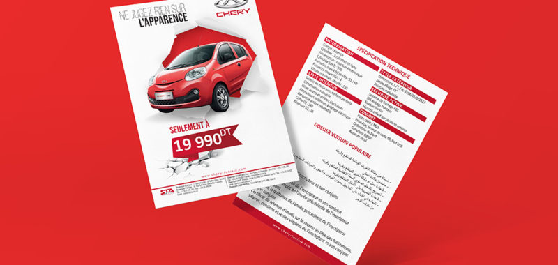 Conception Impression Flyer Chery