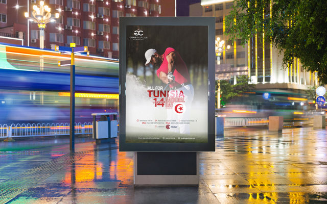 Conception Affiche Golf Citrus All for Tunisia