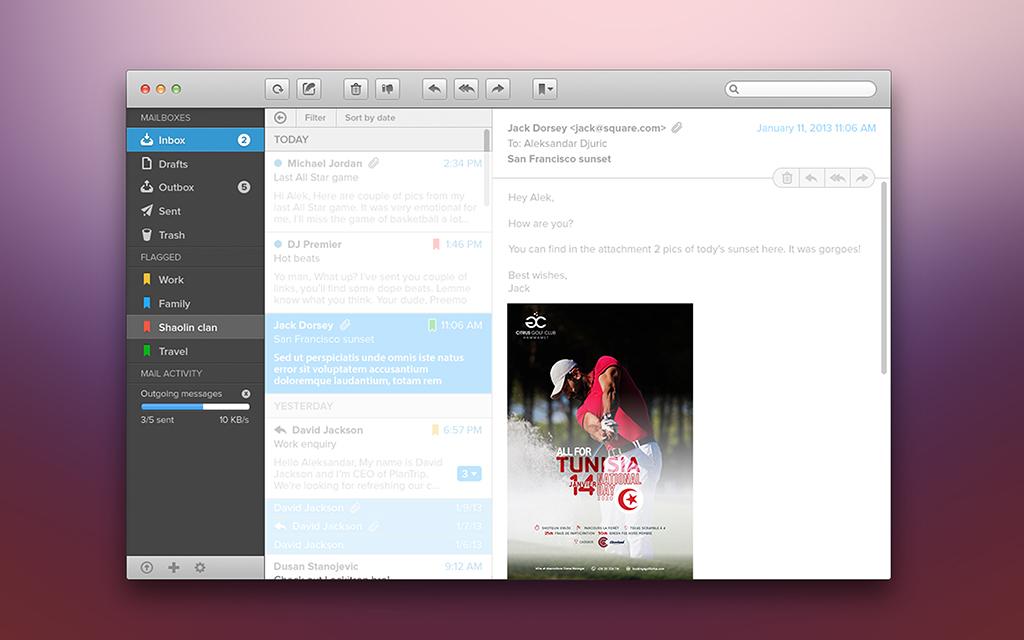 Conception visuel E-mailing All For Tunisia Golf Citrus