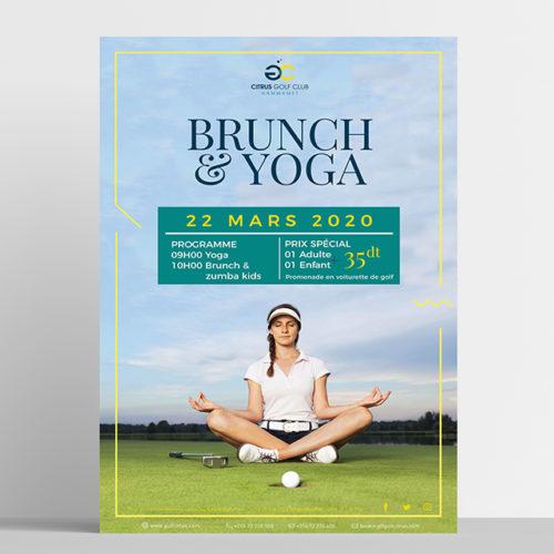 Conception graphique Affiche Brunch Yoga
