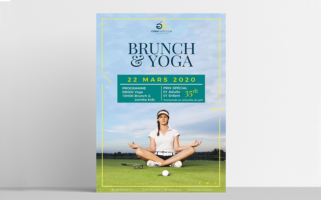 Conception graphique Affiche Brunch Yoga