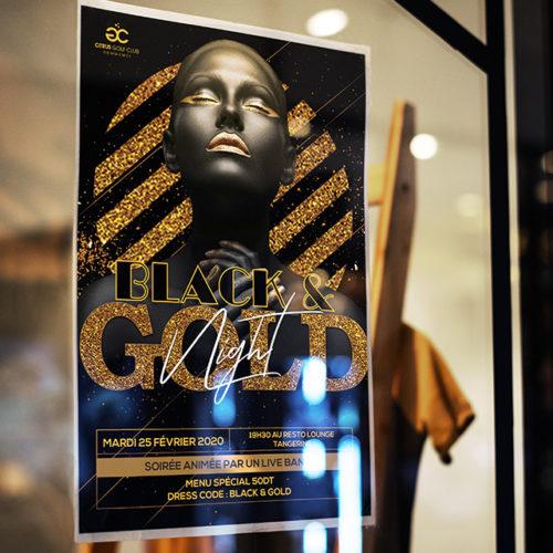 Conception graphique Affiche Black and Gold Party