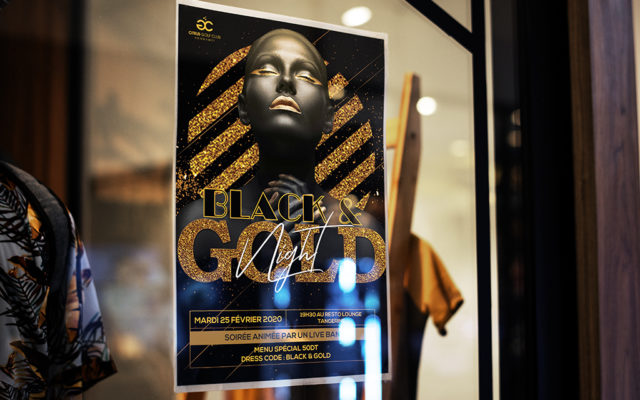 Conception graphique Affiche Black and Gold Party