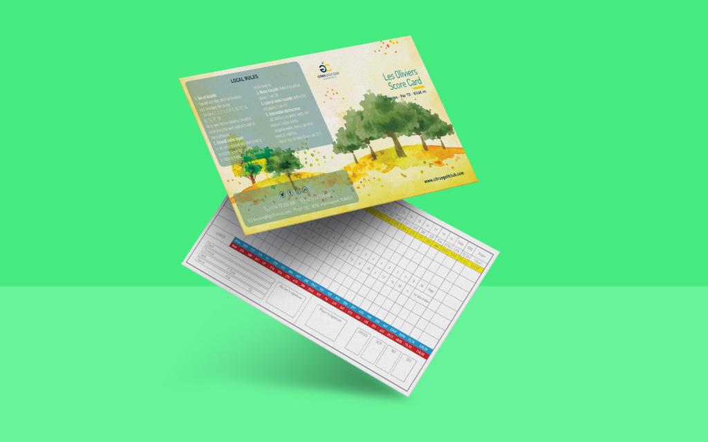 Conception Score card parcours les oliviers