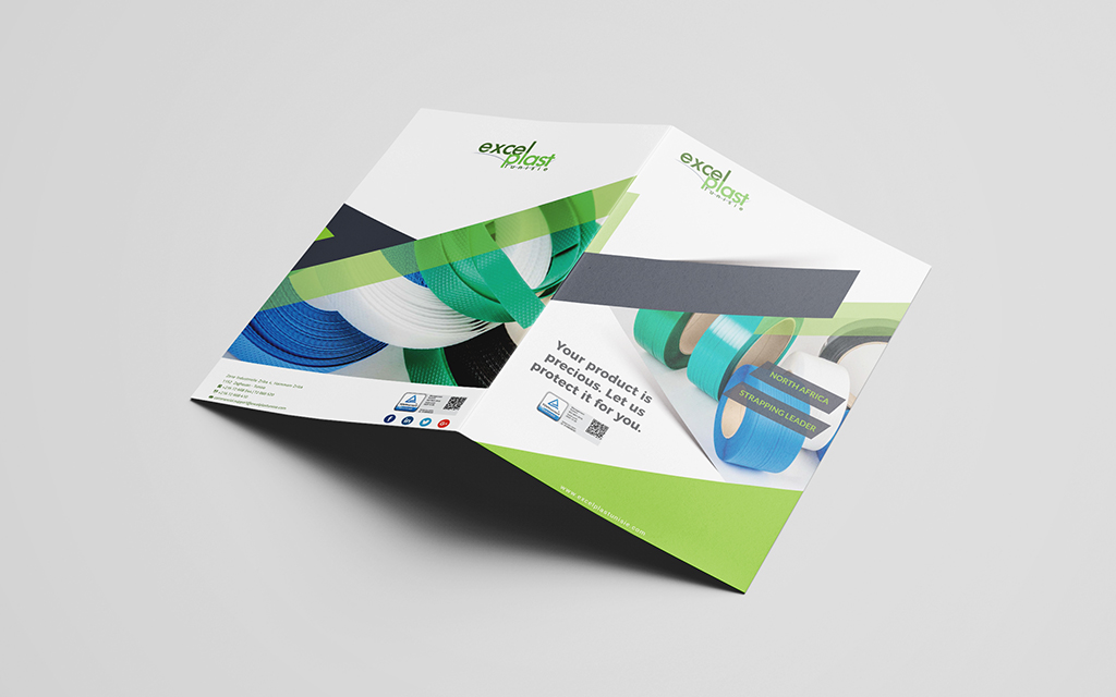 Conception et impression brochure anglais Excelplast